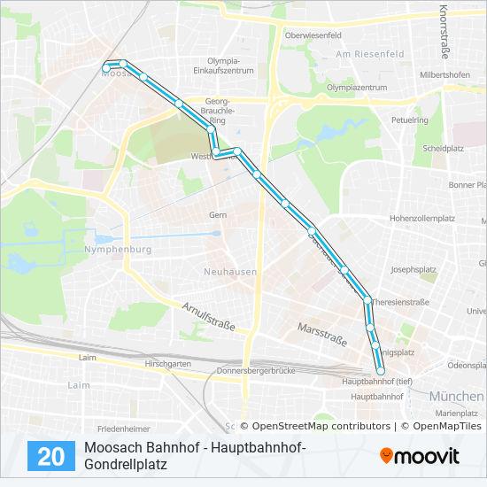 Linie 20 Fahrpläne Haltestelle Karten Karlsplatz Nord