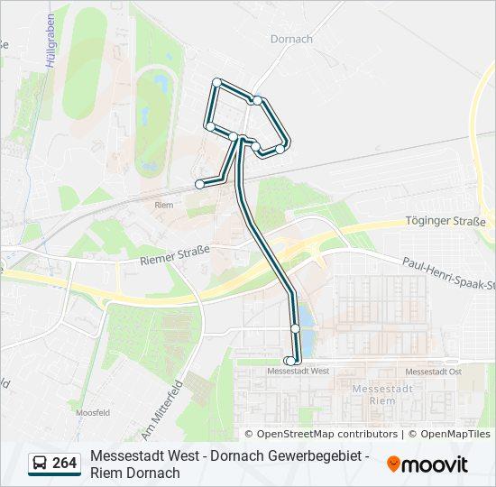 Mvv Zonen Karte.Linie 264 Fahrplane Haltestelle Karten Messestadt West
