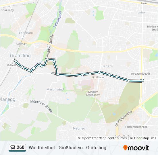 Linie 268 Fahrpläne Haltestelle Karten Waldfriedhof