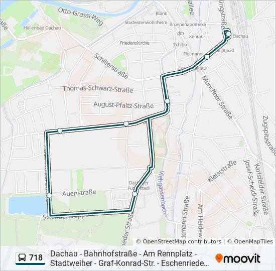 Linie 718 Fahrpläne Haltestelle Karten Dachau Bahnhof