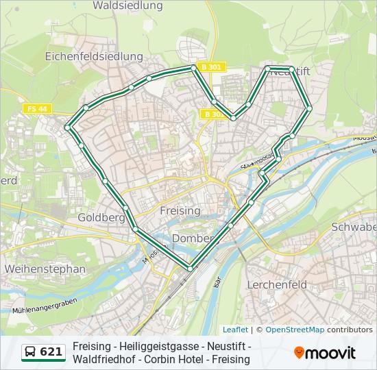 Linie 621: Fahrpläne, Haltestelle & Karten Freising