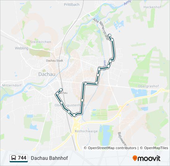 Mvv Karte.Linie 744 Fahrpläne Haltestelle Karten Dachau Bahnhof