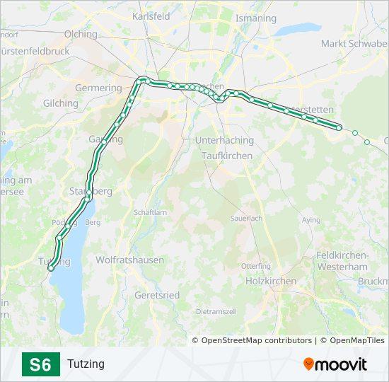 Linie S6 Fahrpläne Haltestelle Karten Tutzing