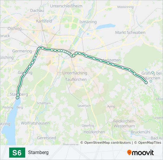 Linie S6 Fahrpläne Haltestelle Karten Starnberg