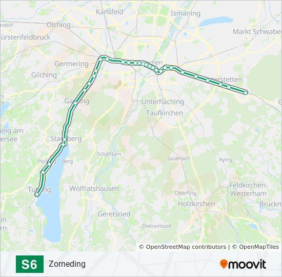 Linie S6 Fahrpläne Haltestelle Karten Zorneding