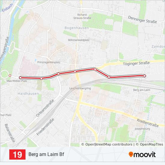 Linie 19 Fahrpläne Haltestelle Karten Berg Am Laim Bf