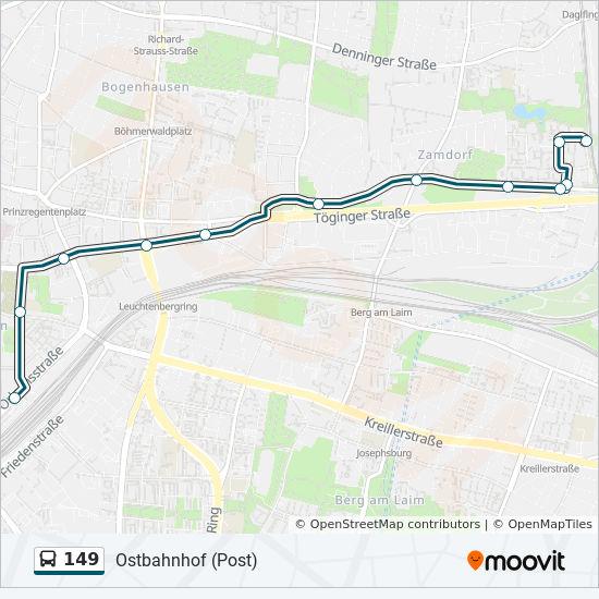 Linie 149 Fahrpläne Haltestelle Karten Ostbahnhof Post