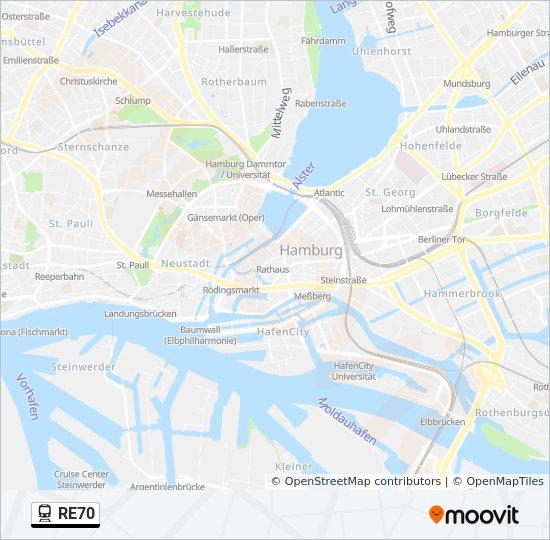 re70 route time schedules stops maps hamburg hbf hamburg altona. Black Bedroom Furniture Sets. Home Design Ideas