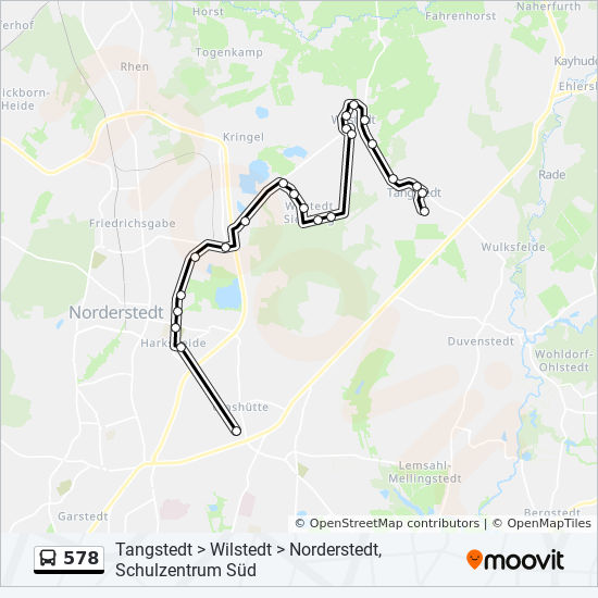 578 Route: Time Schedules, Stops & Maps - Norderstedt