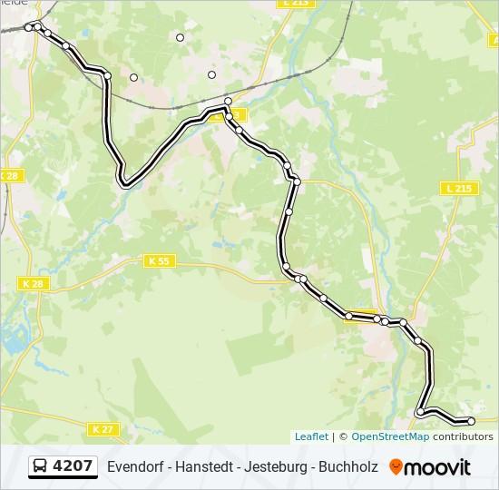 Wildpark Lüneburger Heide Karte.Linie 4207 Fahrpläne Haltestelle Karten Nindorf Wildpark