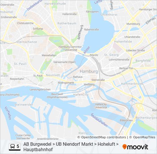 Hvv Karte Ab.Linie 5 Fahrpläne Haltestelle Karten A Burgwedel