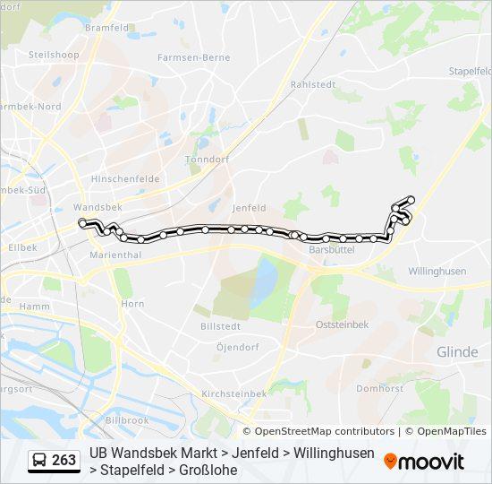 263 Route Time Schedules Stops Maps Barsbüttel Möbel