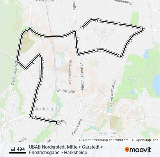 Linie 494 Fahrplane Haltestellen Karten U A Norderstedt Mitte