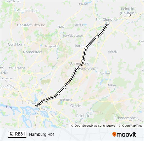 Hamburg Hauptbahnhof Karte.Linie Rb81 Fahrpläne Haltestelle Karten Hamburg Hbf
