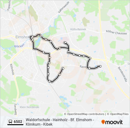 Hvv Karte Zonen.Linie 6502 Fahrplane Haltestelle Karten Elmshorn Kibek