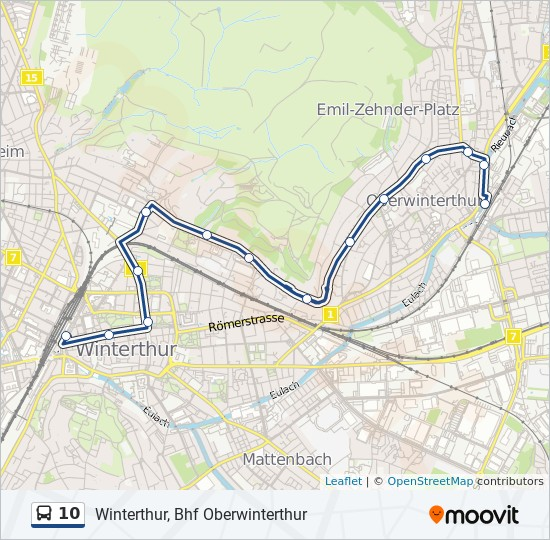 10 Route: Time Schedules, Stops & Maps - Winterthur, Bhf ...