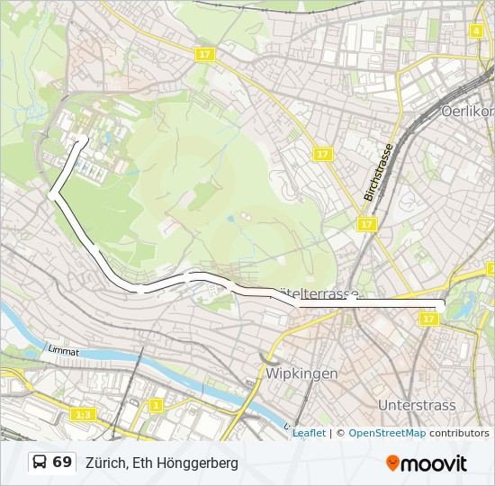 69 Route: Time Schedules, Stops & Maps - Zürich, Eth Hönggerberg on map of mas, map of nam, map of ire, map of gha, map of pak, map of swe, map of middle english, map of wynn, map of vir, map of arg, map of ane, map of chi, map of ita, map of gam, map of fiji, map of ooh, map of alg, map of ger,