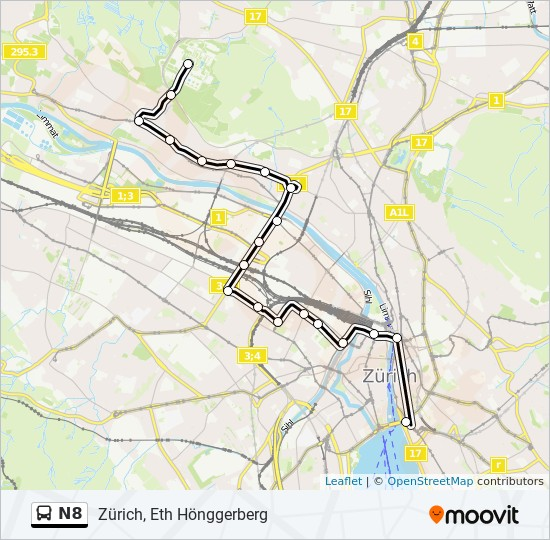 N8 Route: Time Schedules, Stops & Maps - Zürich, Eth Hönggerberg on map of mas, map of nam, map of ire, map of gha, map of pak, map of swe, map of middle english, map of wynn, map of vir, map of arg, map of ane, map of chi, map of ita, map of gam, map of fiji, map of ooh, map of alg, map of ger,