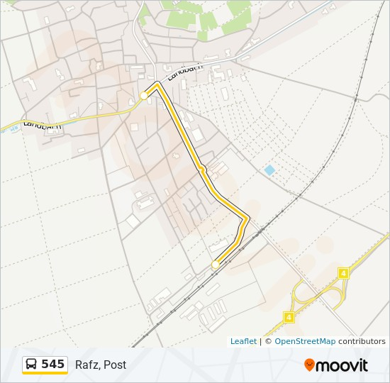 545 Route: Time Schedules, Stops & Maps - Rafz, Post