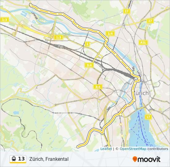 13 Route: Time Schedules, Stops & Maps - Zürich, Frankental on basel map, wittenberg germany map, innsbruck map, swiss alps map, switzerland map, bern map, seine river map, lucerne map, danube river map, munich map, novosibirsk map, rhone river map, geneva map, rhine river map, mediterranean sea map, the hague map, budapest map, kiev map, frankfurt map, minsk map,