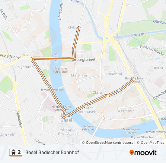Linie 2 Fahrpläne Haltestelle Karten Basel Badischer Bahnhof