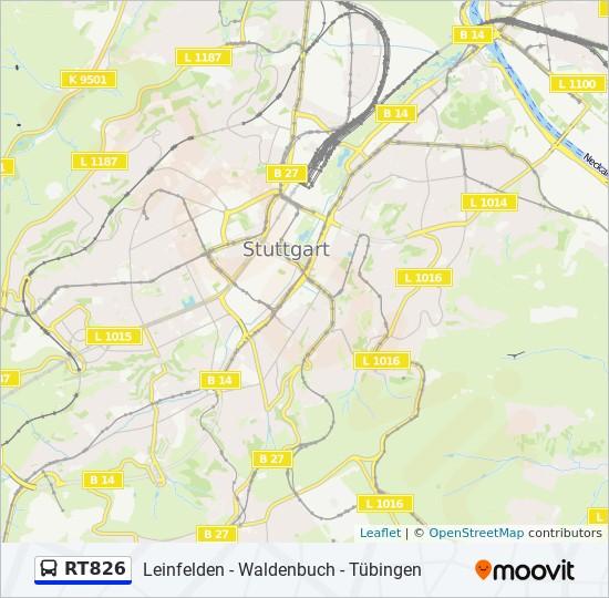 Linie Rt826 Fahrplane Haltestellen Karten Tubingen Hauptbahnhof