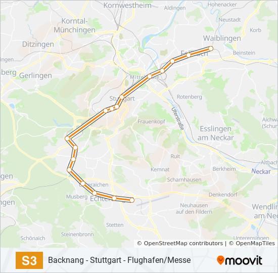 s bahn stuttgart map