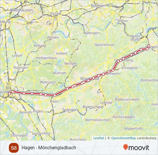 Linie S8 Fahrpläne Haltestelle Karten Mönchengladbach