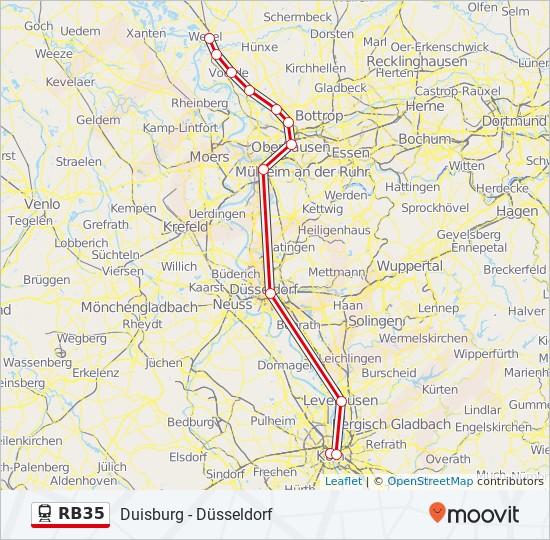 Db Fahrplan Karte.Linie Rb35 Fahrpläne Haltestelle Karten Duisburg