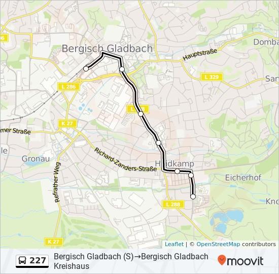 Bus Linie 227 Karte