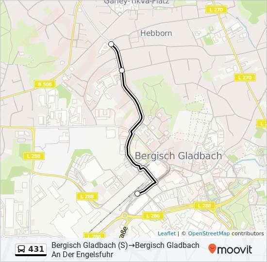 Bus Linie 431 Karte