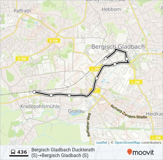 Bus Linie 436 Karte