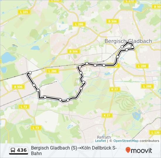 436 otobüs Hat Haritası
