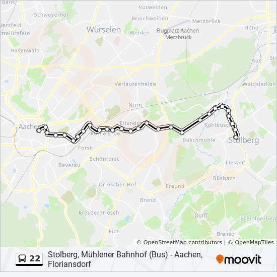 22 Route Time Schedules Stops Maps Aachen Campus Melaten