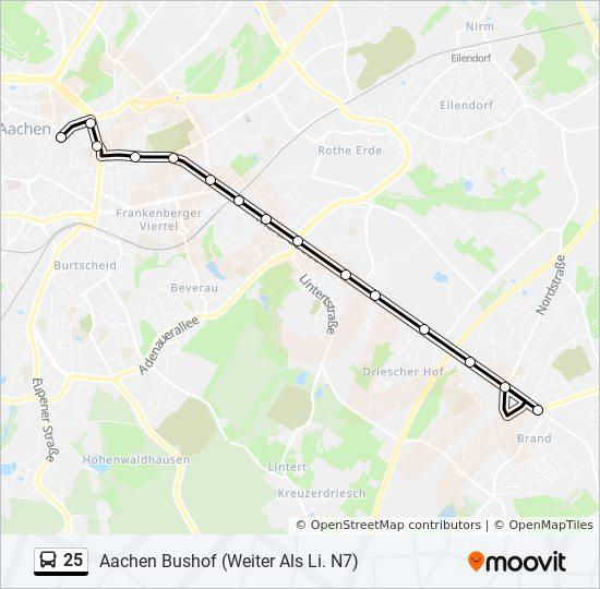 Fahrplan N7 Silvester Aachen