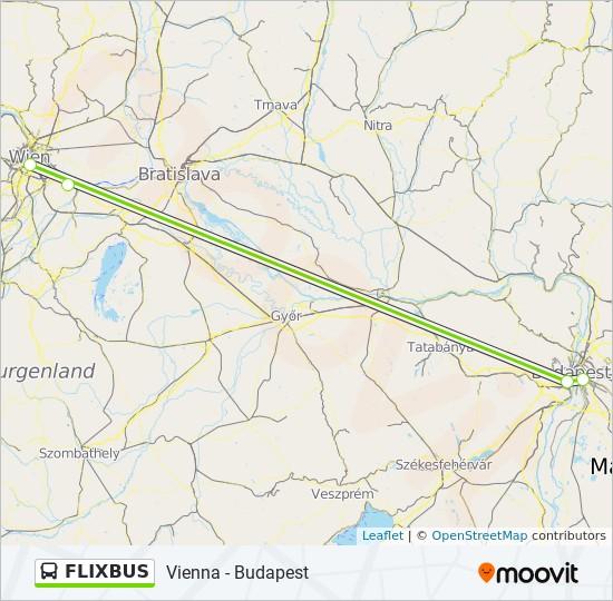 Flixbus Utvonal Menetrendek Megallok Es Terkepek Budapest Nepliget