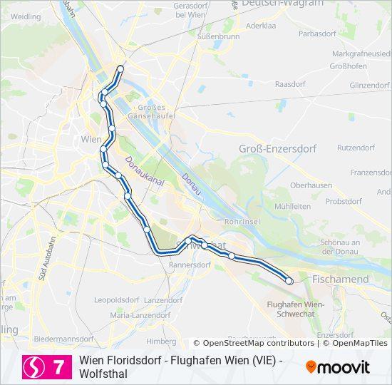 Linie S7 Fahrplane Haltestellen Karten Flughafen Wien Vie