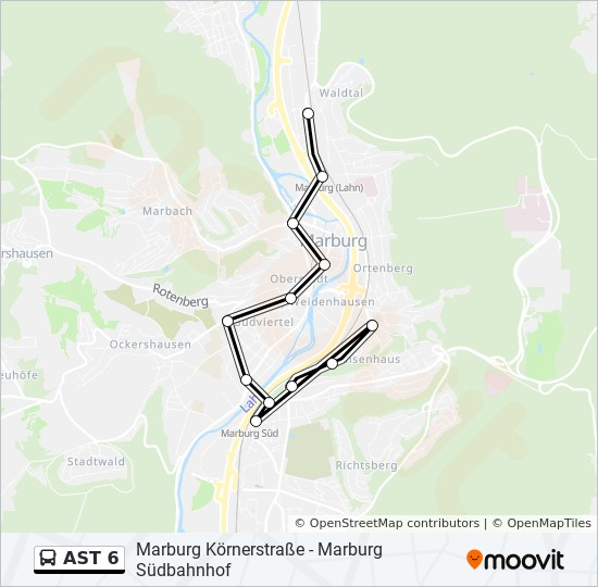AST 6 bus Line Map