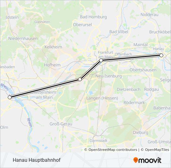 Linie Ice 1021 Fahrplane Haltestellen Karten Hanau Hauptbahnhof