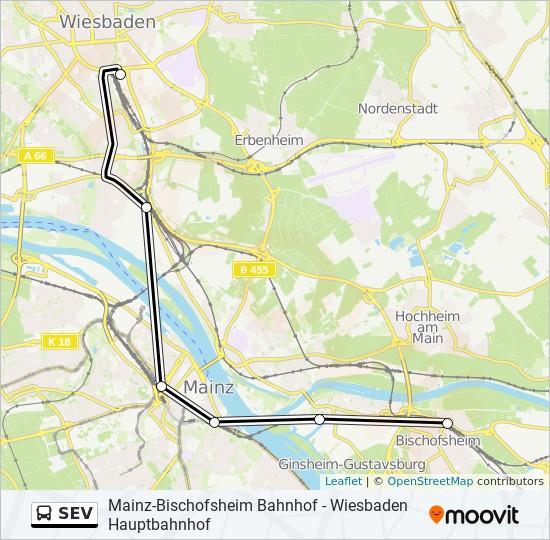 Mapa de SEV de autobús