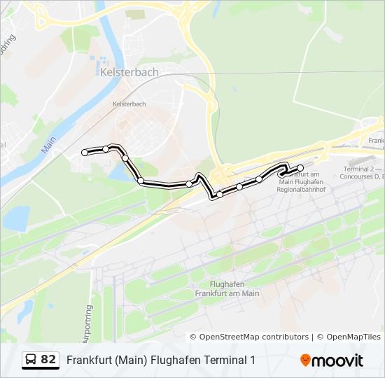 Mapa de 82 de autobús