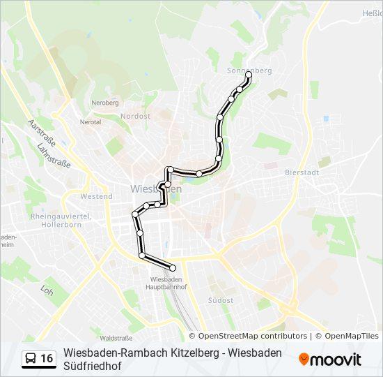 Wiesbaden Karte.Linie 16 Fahrpläne Haltestelle Karten Wiesbaden Hauptbahnhof