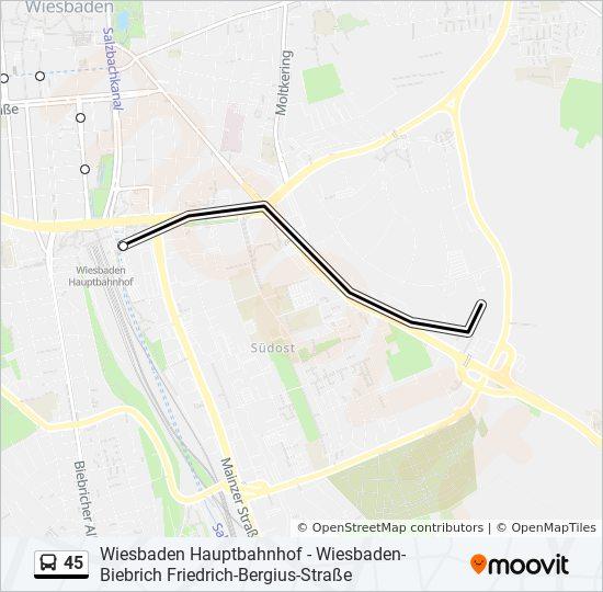 Linie 45 Fahrpläne Haltestelle Karten Wiesbaden