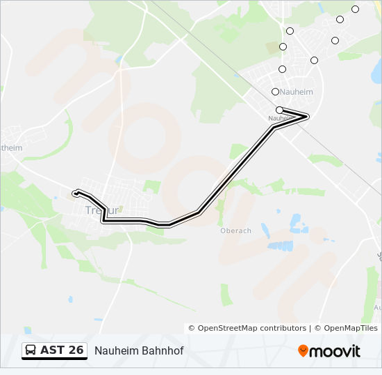 Bus Linie AST 26 Karte