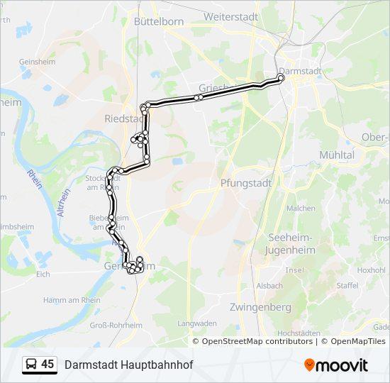 Mapa de 45 de autobús