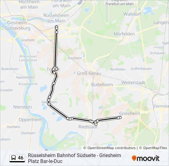 46 bus Line Map