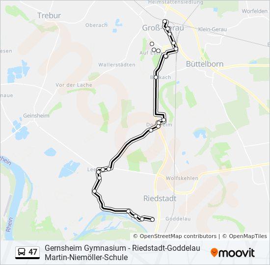47 bus Line Map