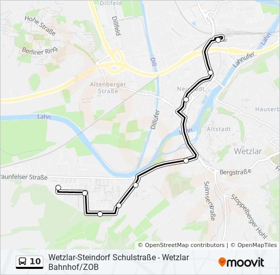 Linie 10 Fahrplane Haltestellen Karten Wetzlar An Der