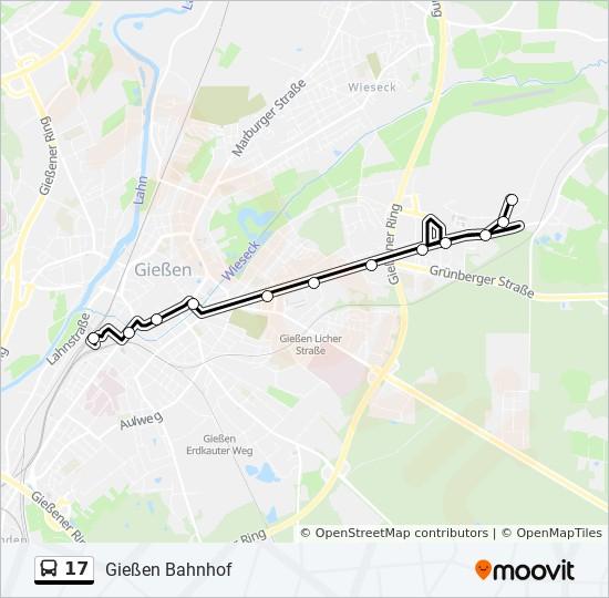 Linie 17 Fahrplane Haltestellen Karten Giessen Lufthansastrasse