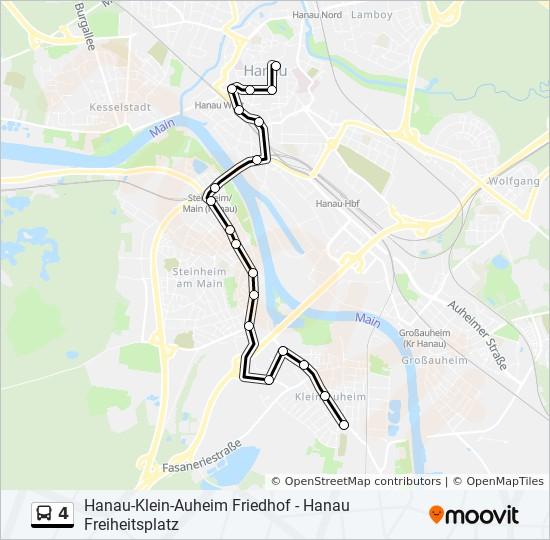 Linie 4 Fahrplane Haltestellen Karten Hanau Klein Auheim